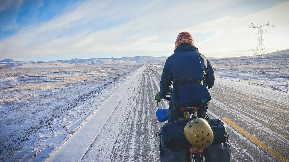 冬季的青藏线骑行